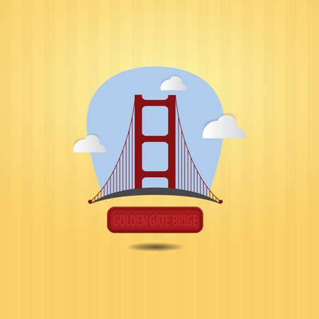 golden gate bridge Stock Vector - 106669860