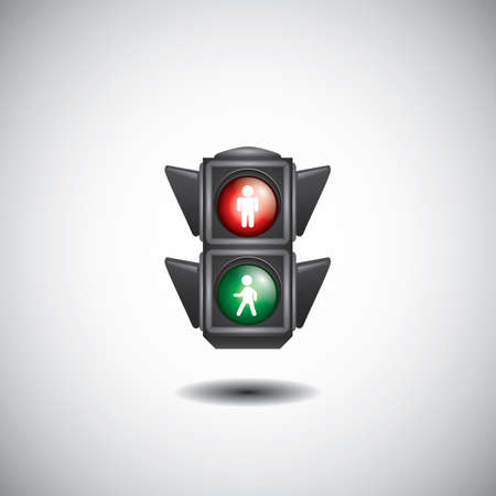pedestrian crossing traffic signal Illustration