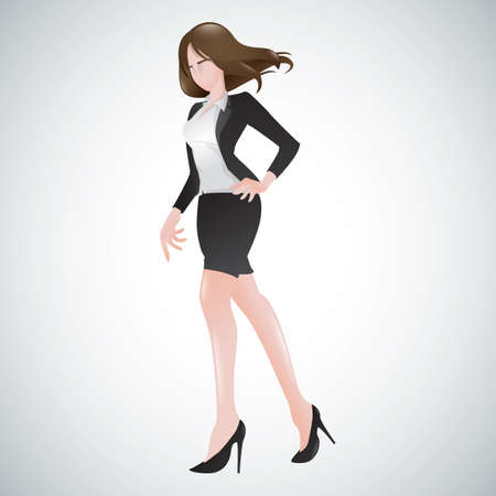 woman walking Illustration