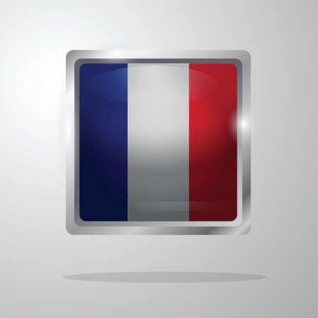 フランス国旗ボタン