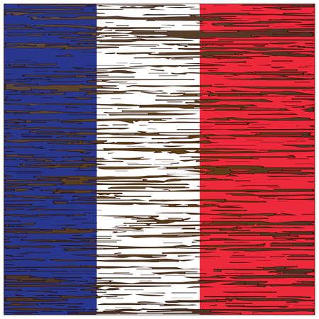 フランス国旗ウッド テクスチャ背景