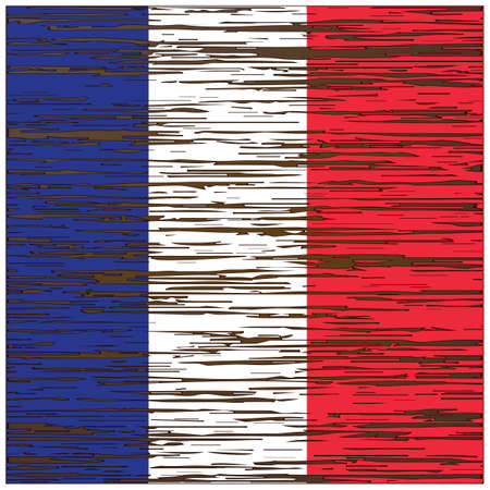Frankrijk vlag hout textuur achtergrond Stock Illustratie