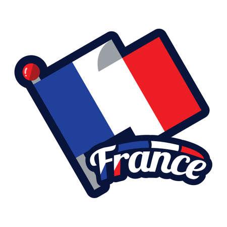 Francia mappa Archivio Fotografico - 81485378