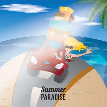 Paraíso de verano Foto de archivo - 81485383