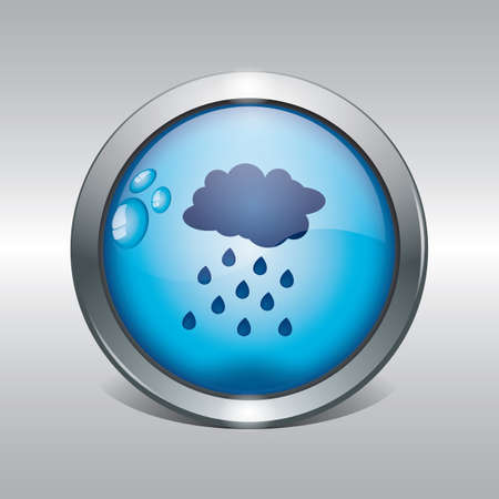 clouds and rain icon Ilustracja