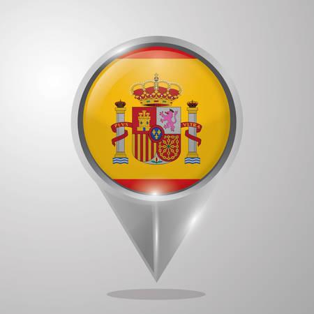 スペイン フラグ マップ ポインター