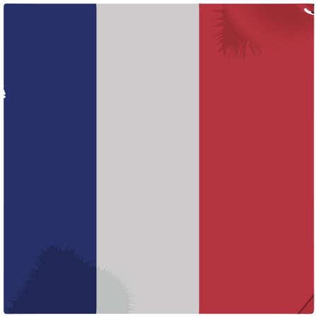 Fondo de la bandera de Francia Foto de archivo - 81485399
