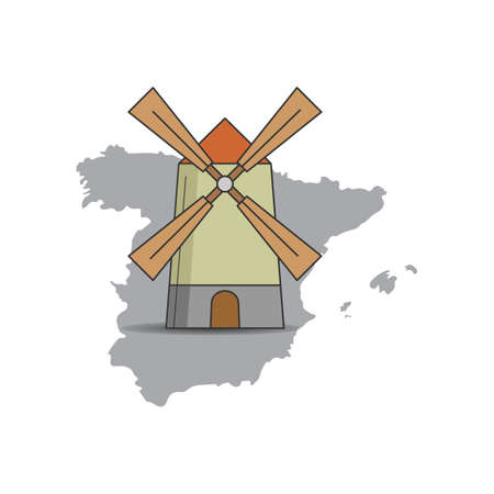 windmill Ilustrace