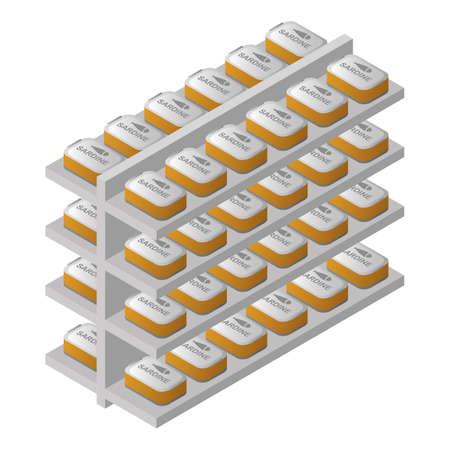 racks with sardine