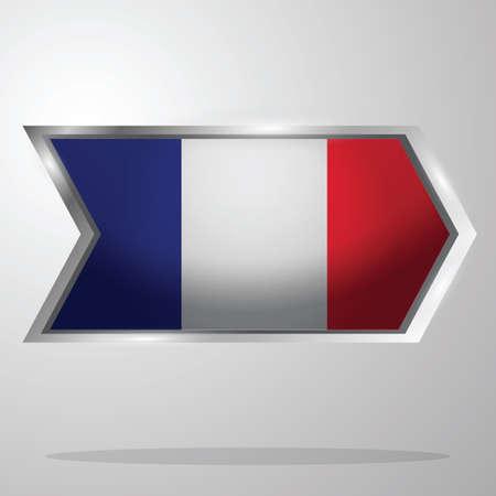france flag button Illusztráció
