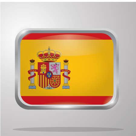 spain flag button Reklamní fotografie - 81485423