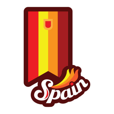 spain flag pennant Illustration