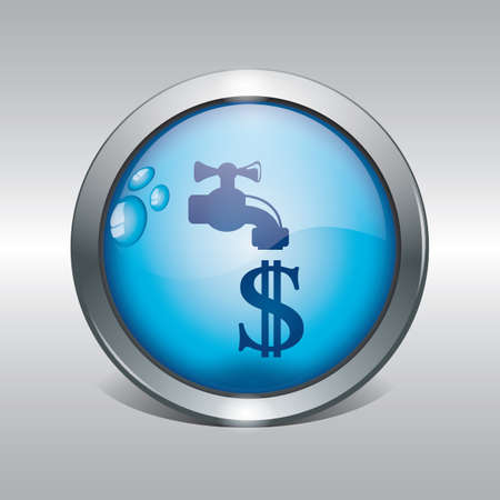 ahorrar agua ahorrar dinero concepto