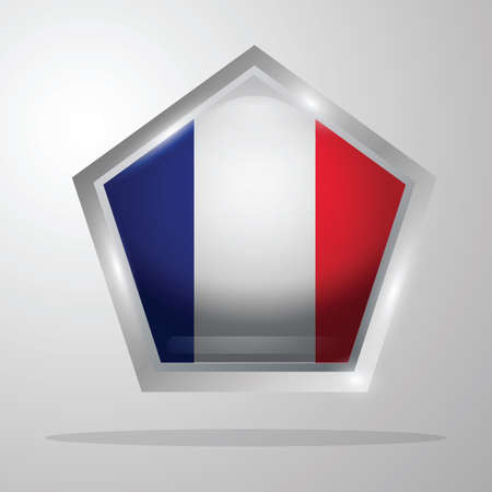 Frankrijk vlag knop Stock Illustratie