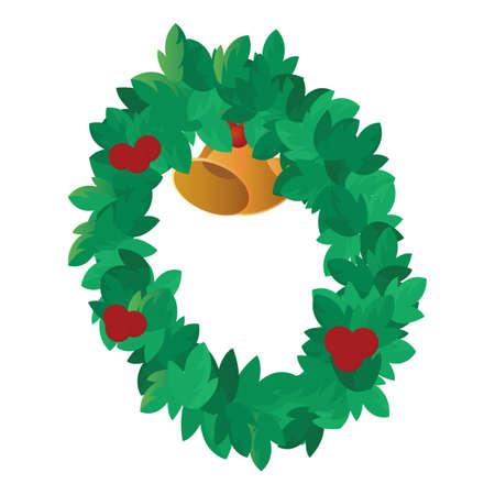 kerstkrans Stock Illustratie