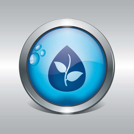 plant in water drop icon  イラスト・ベクター素材