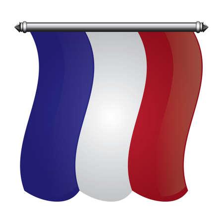 france flag pennant Reklamní fotografie - 81485449