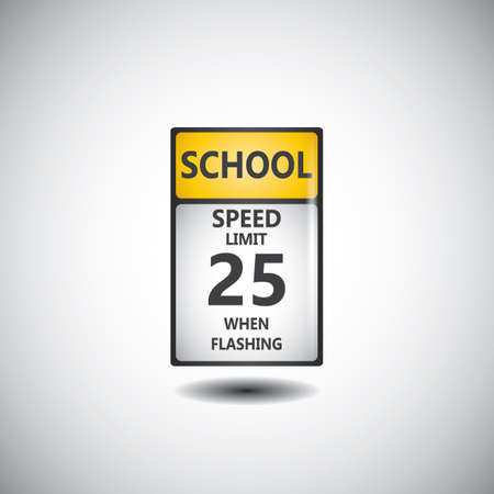 speed limit 25 road sign Illustration
