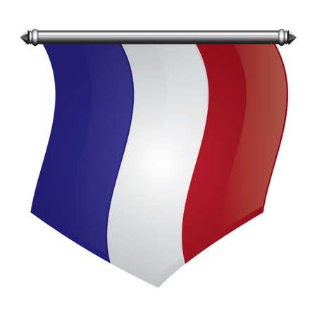 Bandera bandera francia Foto de archivo - 81485467