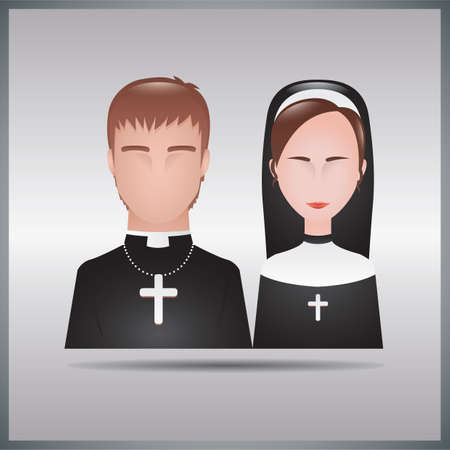 bishop and nun Stock fotó - 106669903