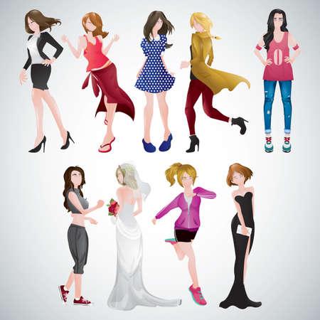 別の服の女性