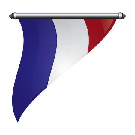 france flag pennant Illusztráció