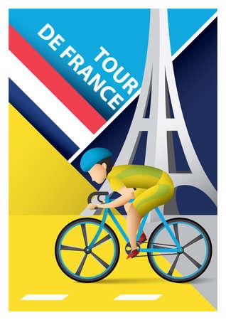 ツアー ・ ド ・ フランス ポスター  イラスト・ベクター素材