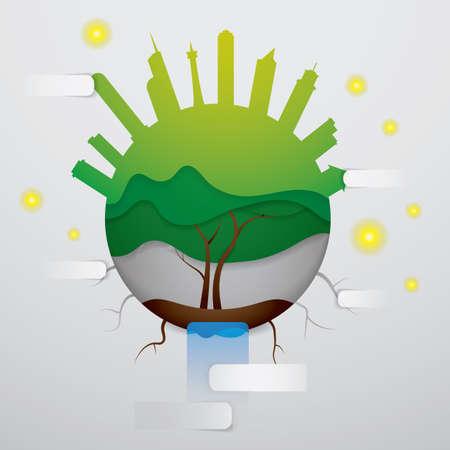 ecology wallpaper Ilustração