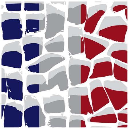 御影石表面フランス国旗背景
