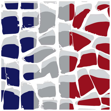 granite stone surface france flag background Ilustrace