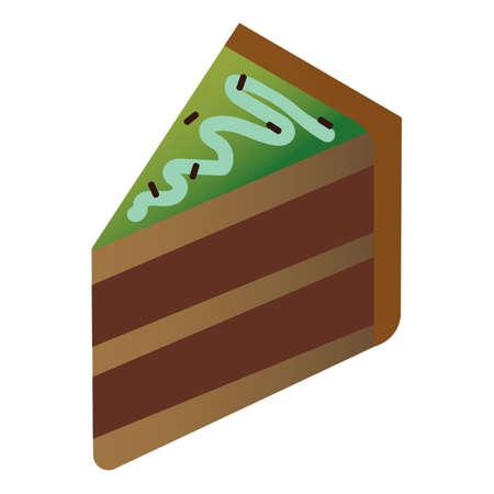 チョコレートの層のケーキのスライス  イラスト・ベクター素材