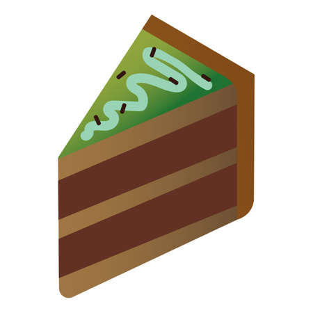 chocolate layer cake slice Illustration