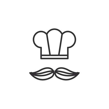 chef hat and beard