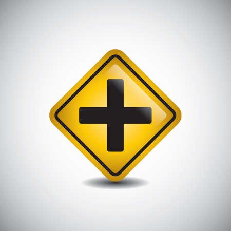 señal de cruce de caminos