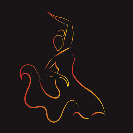 flamenco dancer  イラスト・ベクター素材