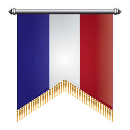 Frankreich flagge pennant Standard-Bild - 81485507