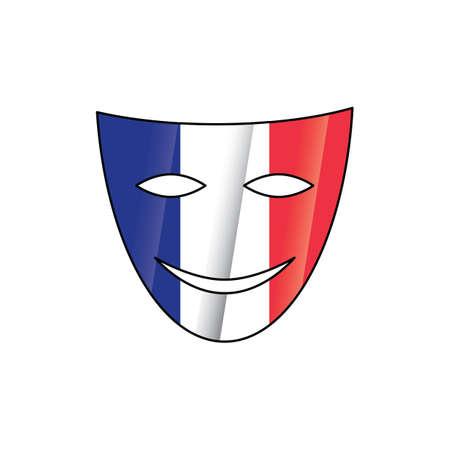 theatrical smiling mask Banco de Imagens - 81485509