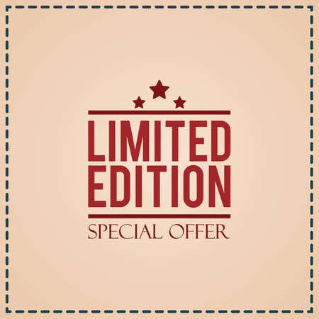 limited edition label Illustration