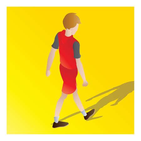 isometric of a boy Illustration