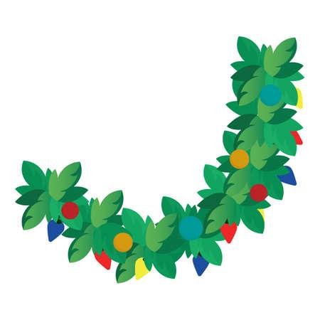 クリスマス スワッグ  イラスト・ベクター素材