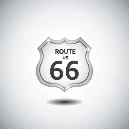 us 66 route sign Illustration