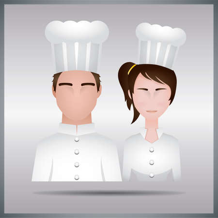 man and woman chef Banque d'images - 106669933