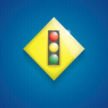 traffic light ahead sign