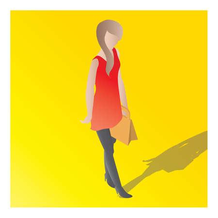 Isometrisch van een vrouw Stock Illustratie
