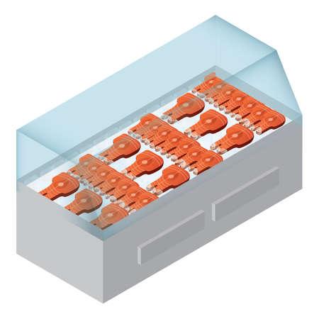 visvlees in de koelkast