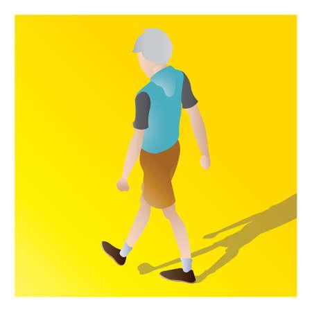 isometrisch van een jongen Stock Illustratie