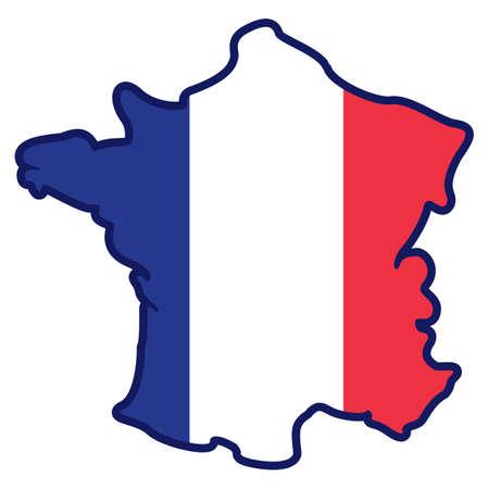 Francia mappa Archivio Fotografico - 81485574