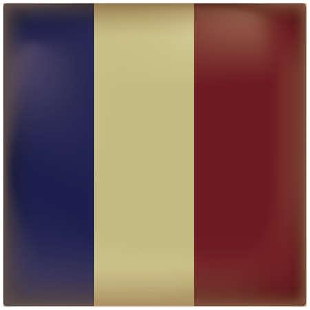 Fondo vintage de bandera de Francia Foto de archivo - 81485596