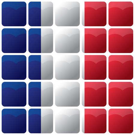 바둑판 무늬 프랑스 국기 배경