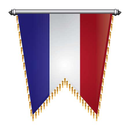 france flag pennant Ilustração